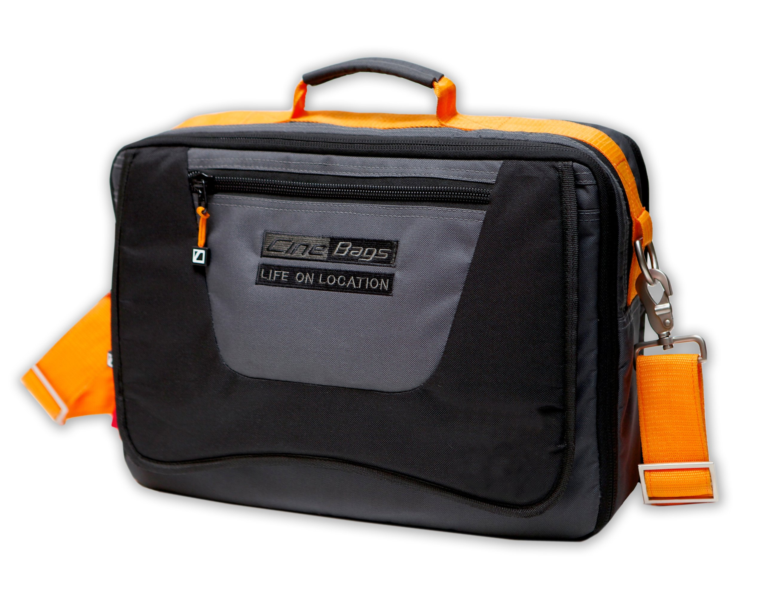 CineBags Messenger Type Laptop Bag CB-17, Black/Charcoal