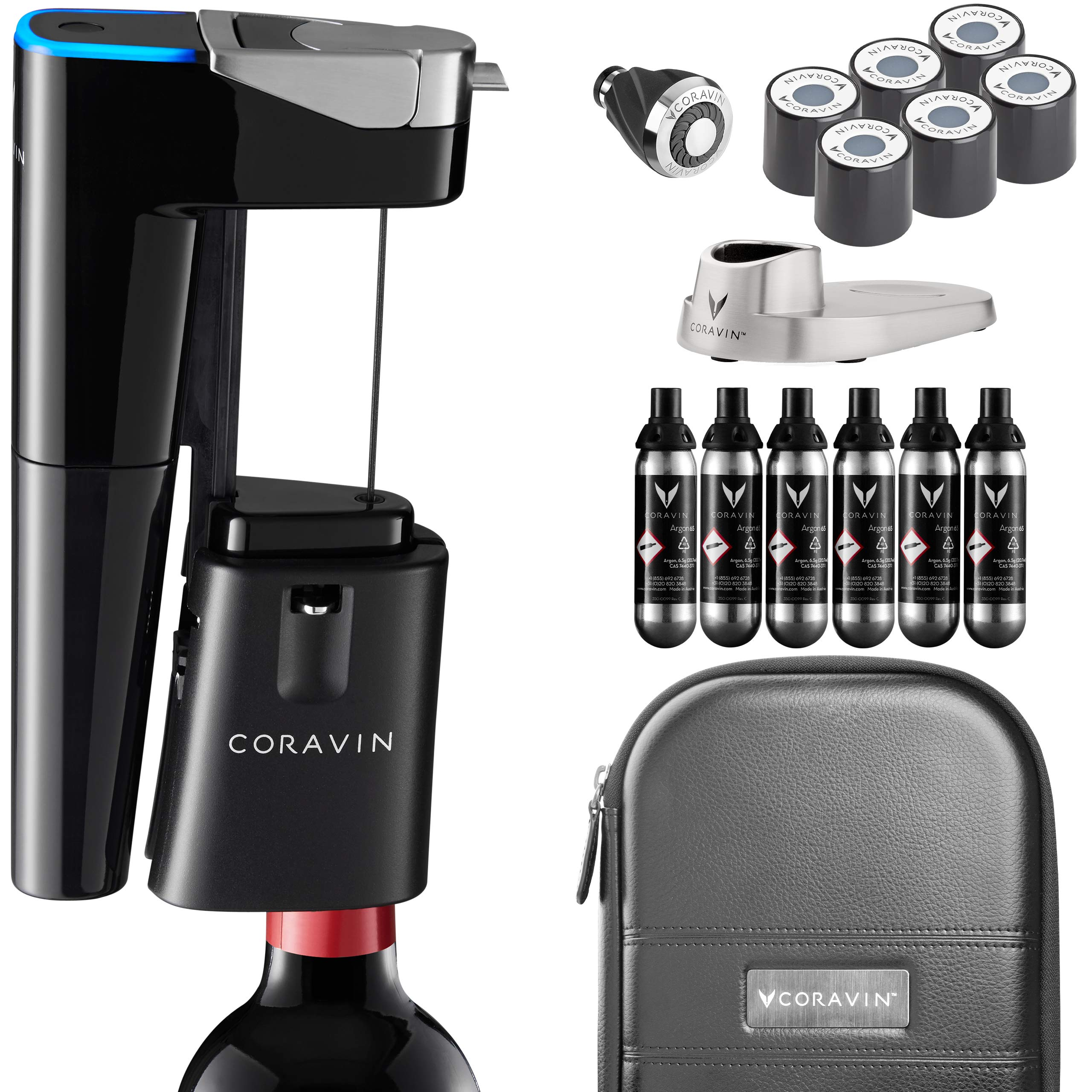 Coravin Model Eleven Fully Automatic Wine Preservation System, Bluetooth Connected, Gloss Black Finish