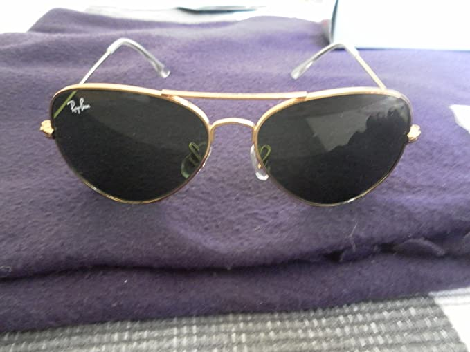 d84f9c948afd7 Ray Ban Large Metal Aviator Sunglasses Model no. 3025 L0205 ~ 58mm Lens  size ~ Gold ...