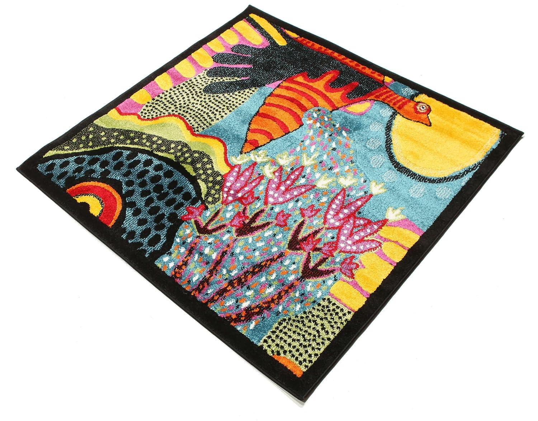 Teppich quadratisch 120x120  Sun rise Teppich 120x120 Moderner, Quadratisch Teppich: Amazon.de ...