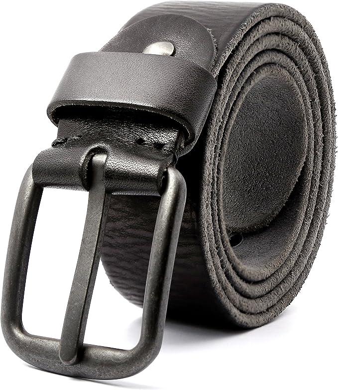 3ZHIYI Vintage Cintura Uomo in pelle di bufalo Jeans Abbigliamento Casual Wear