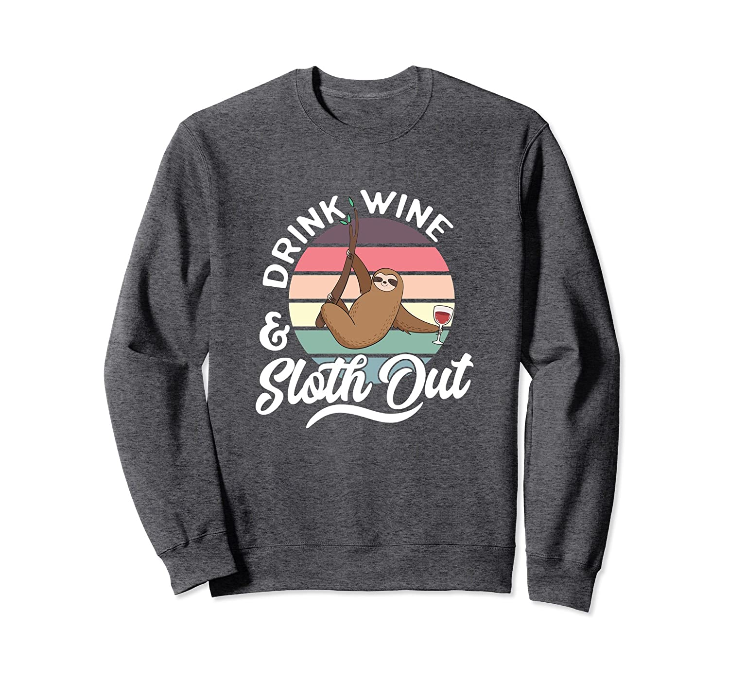 Sloth Sweatshirt Women Mothers Day Funny Graphic Pullover-Colonhue