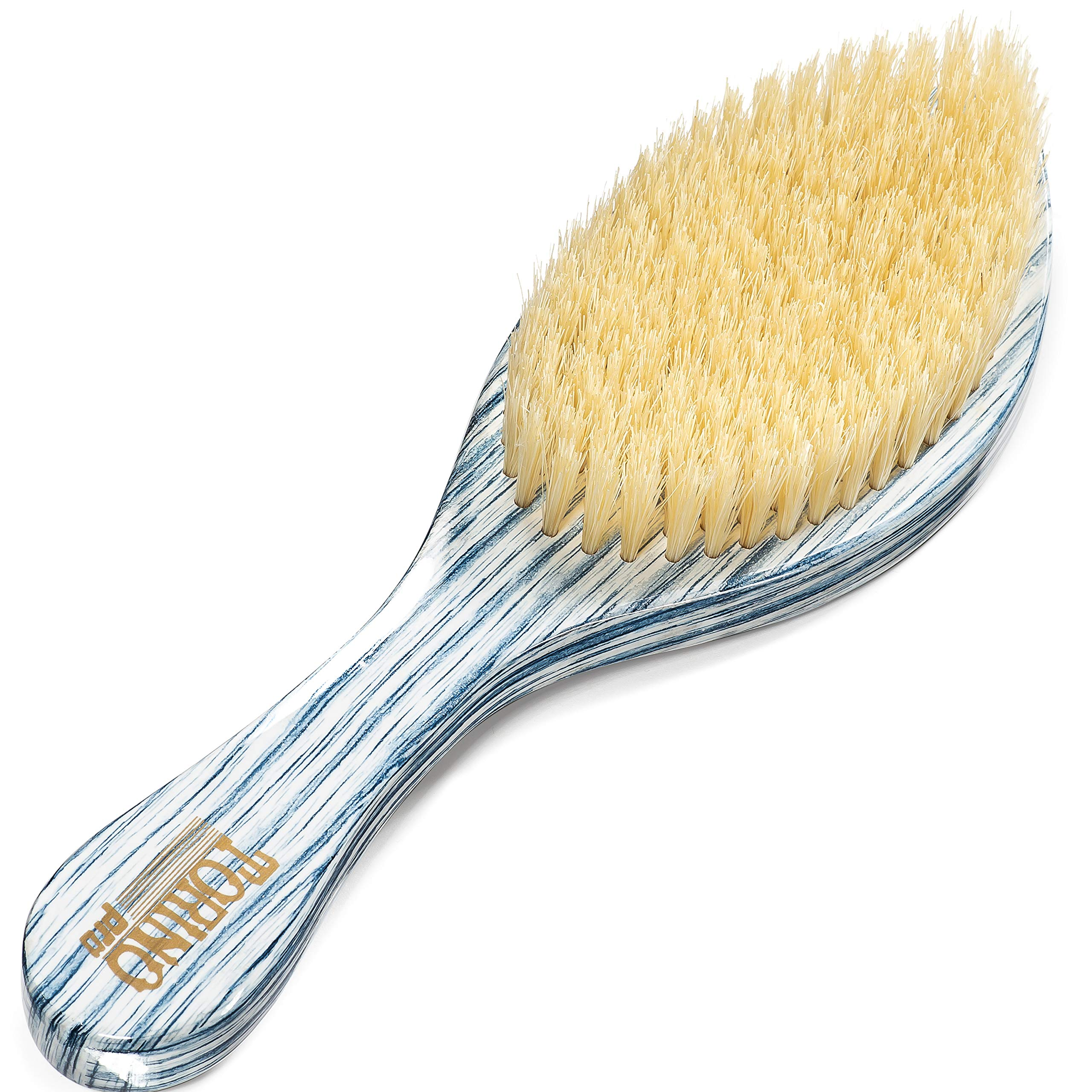 Torino Pro Medium Curve Wave Brush By Brush King - #1990-360 Curved Medium  Waves brush - Great for beginners to develop wave and also great for