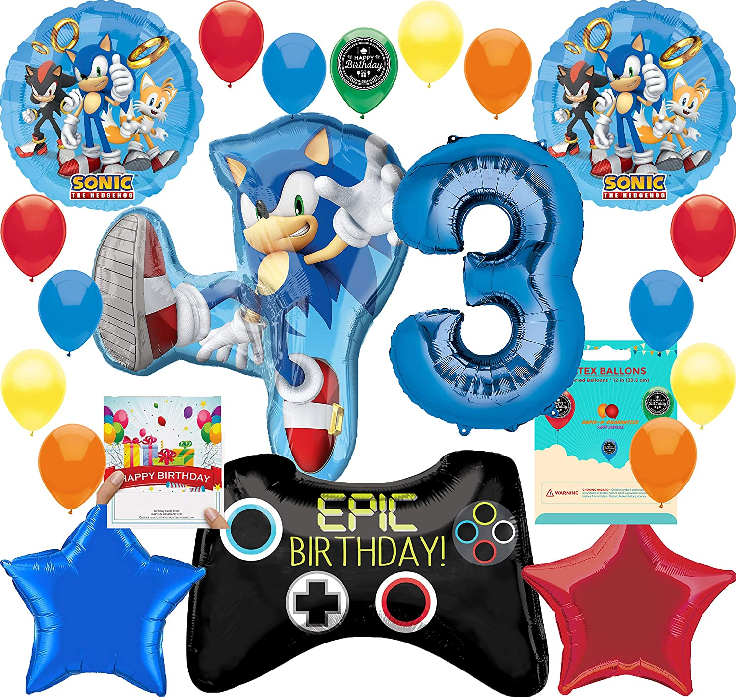 Gamers Game On Epic Party Supplies Controller Birthday Balloon Decorations Bu...