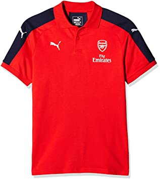 e6474e2ec40 Puma Arsenal Football Club Casuals Performance Children s Polo Shirt with  Sponsor Logo