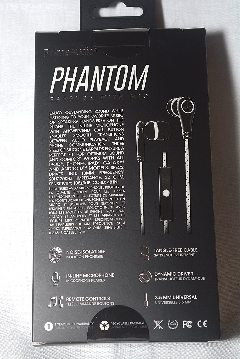 Phantom Earbuds with Microphone