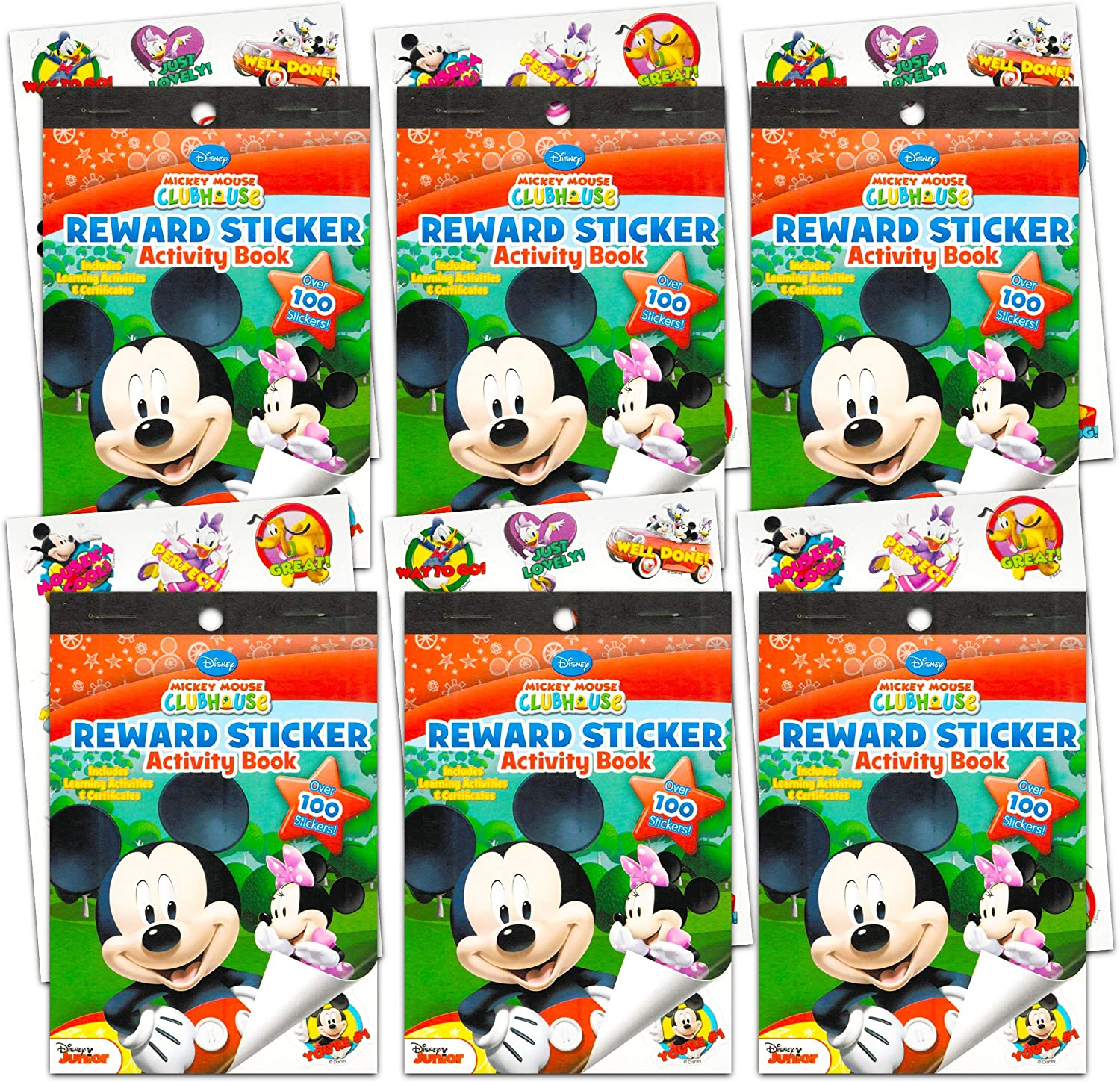 and More Minnie Mouse Disney Mickey Mouse Stickers Party Favors Pack Goofy Set of 8 Sheets of Mickey Mouse and Friends Stickers Featuring Mickey Mouse Mickey Mouse Party Supplies