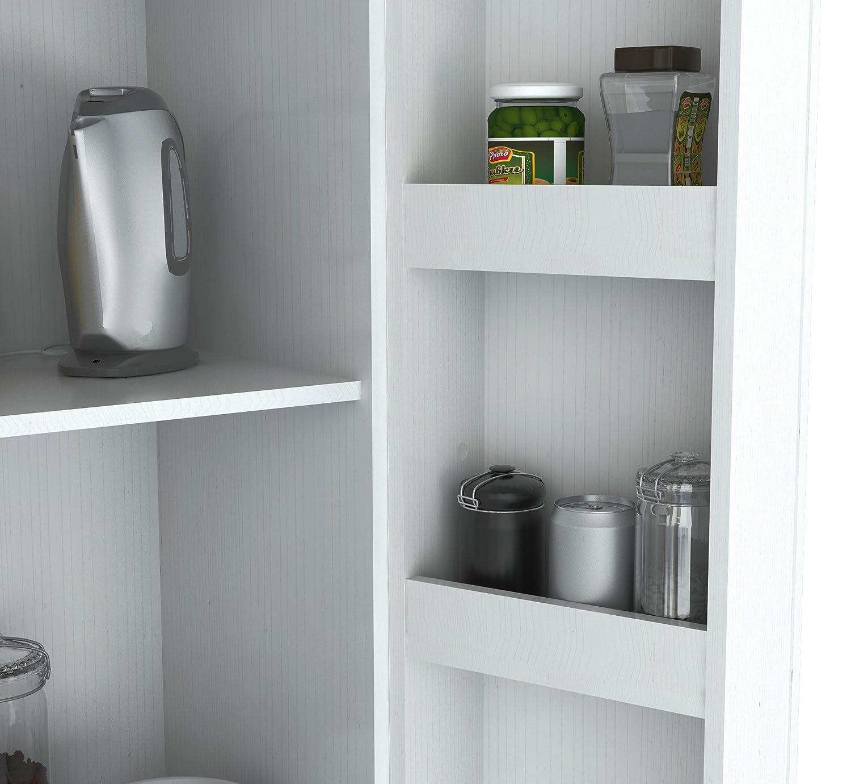 amazon com inval america 2 door storage cabinet laricina white