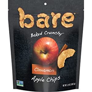 Bare Natural Apple Chips, Cinnamon, Gluten Free + Baked, Multi Serve Bag - 3.4 Oz (6 Count)