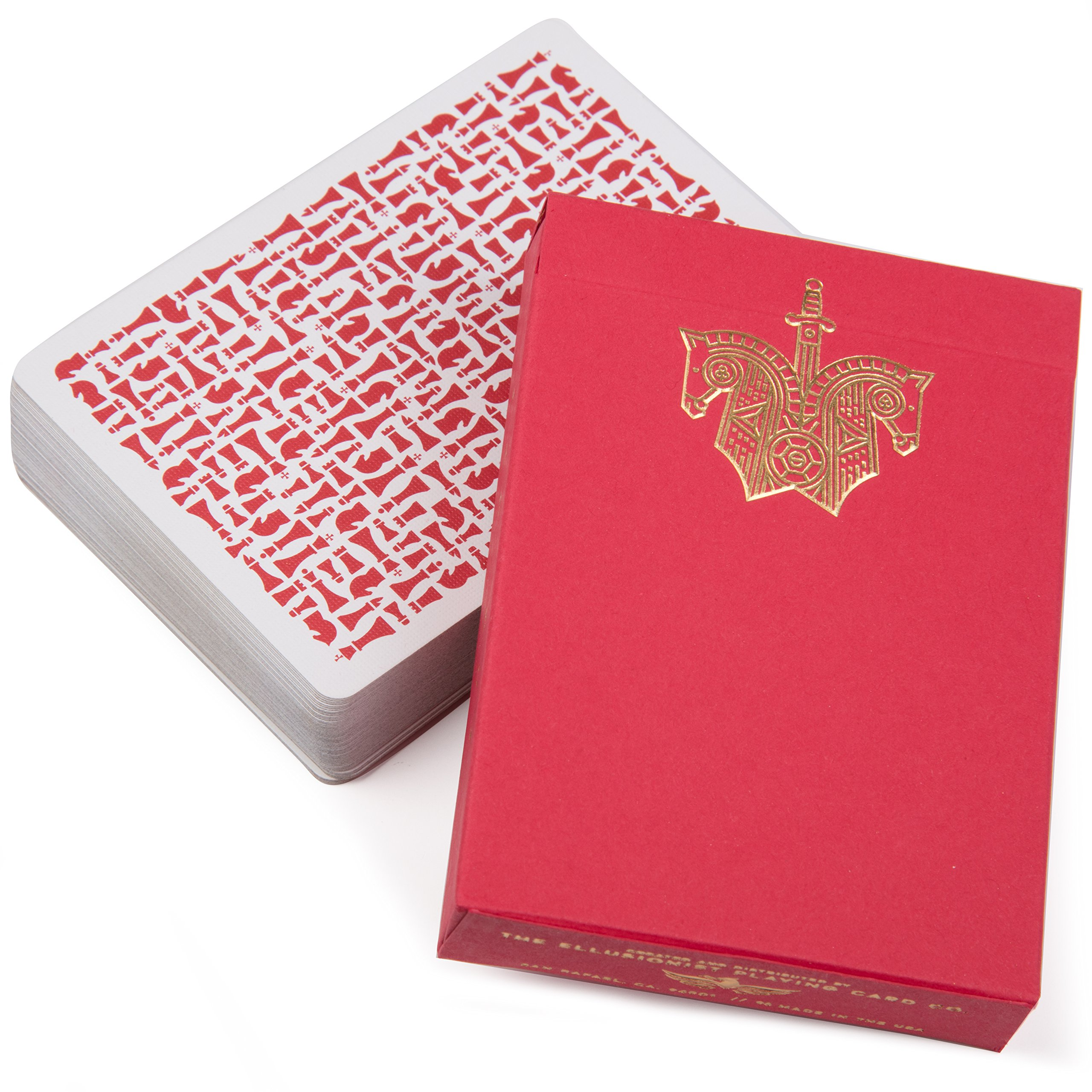Ellusionist Red Knights Playing Cards Deck - by Daniel Madison and Chris Ramsay - Make Your Move by Ellusionist
