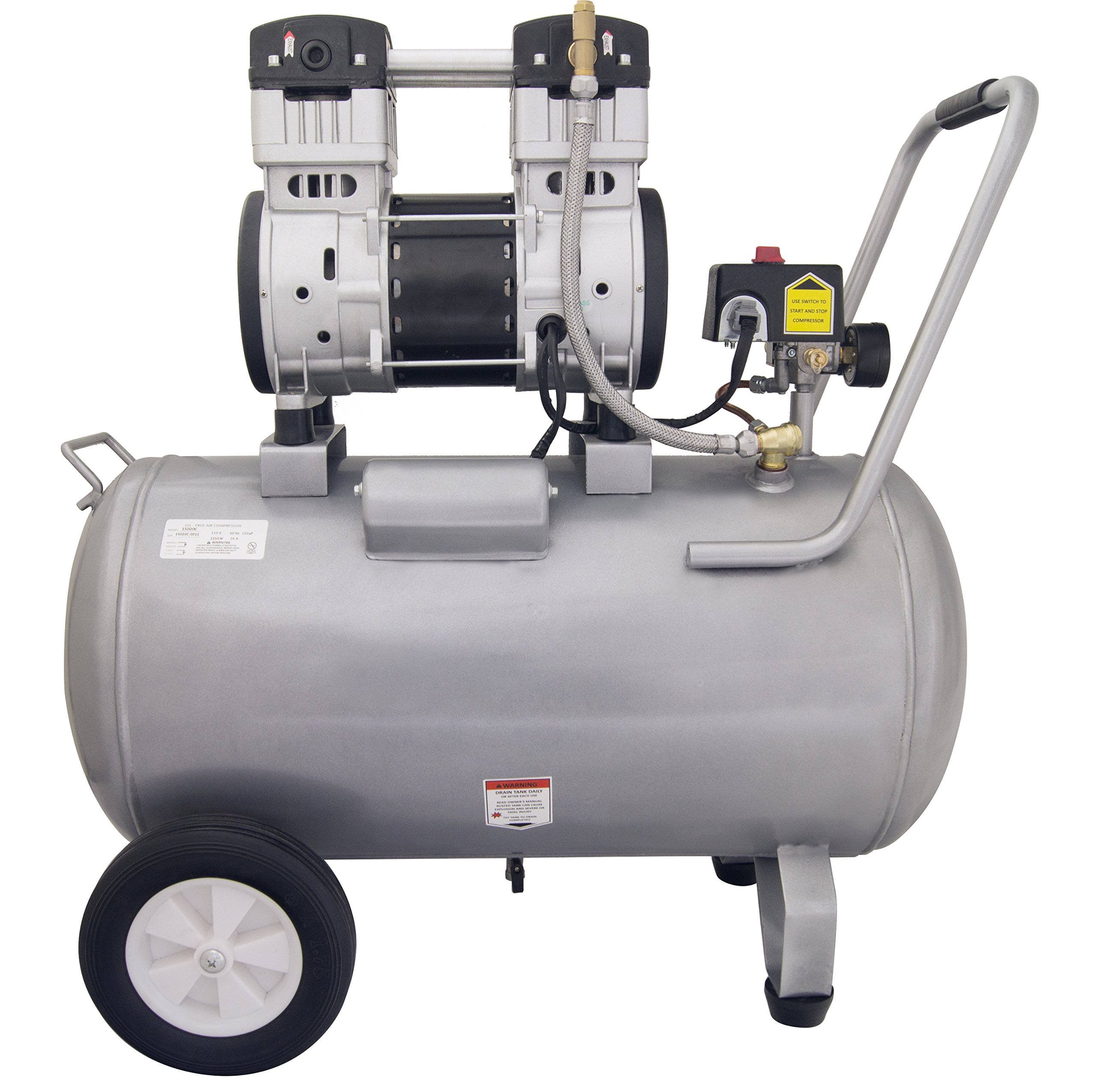 California Air Tools 15020C Ultra Quiet and Oil-Free 2.0 HP 15.0-Gallon Steel Tank Air Compressor by California Air Tools (Image #2)