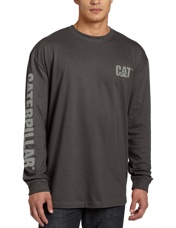 Caterpillar メンズ トレードマーク 長袖 Tシャツ B01EK5SSTU L ダークシャドウ ダークシャドウ L