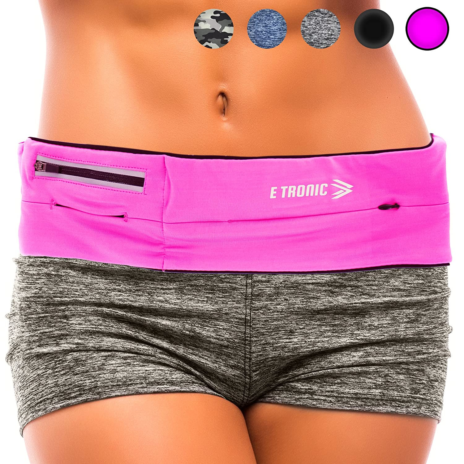 E Tronic Edge Running Belts Best Comfortable Running Belts That Fit All Phone Models and Fit All Waist Sizes. for Running Workouts Cycling Travelling Money Belt More. Comes in 5 Stylish Colors