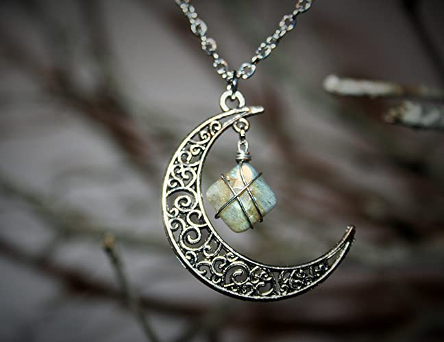 Amazon.com: Ethereal Earth Wire Wrapped Labradorite and Moon ...