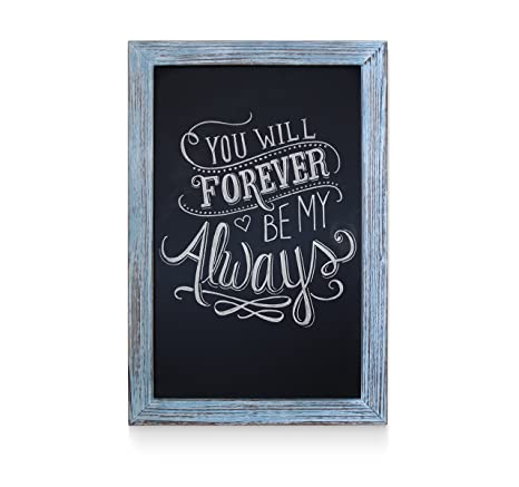 Amazon.com: Rustic Blue Magnetic Wall Chalkboard, Extra Large Size ...