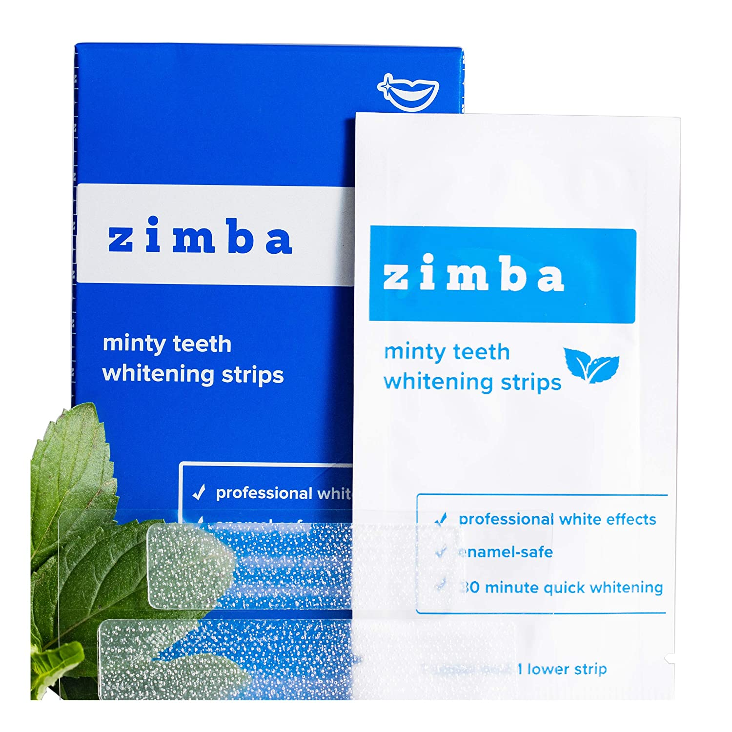 Amazon Com Zimba Teeth Whitening Strips Mint Zimba Whitening
