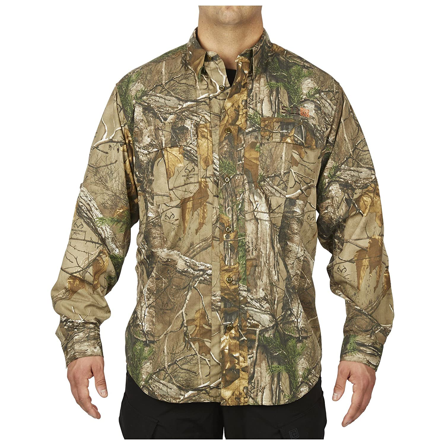 9987d7a5 Double fabric elbows on our Taclite camo shirts ensure maximum resilience.  All REALTREE camo shirts feature our patented 5.11 hidden document pockets