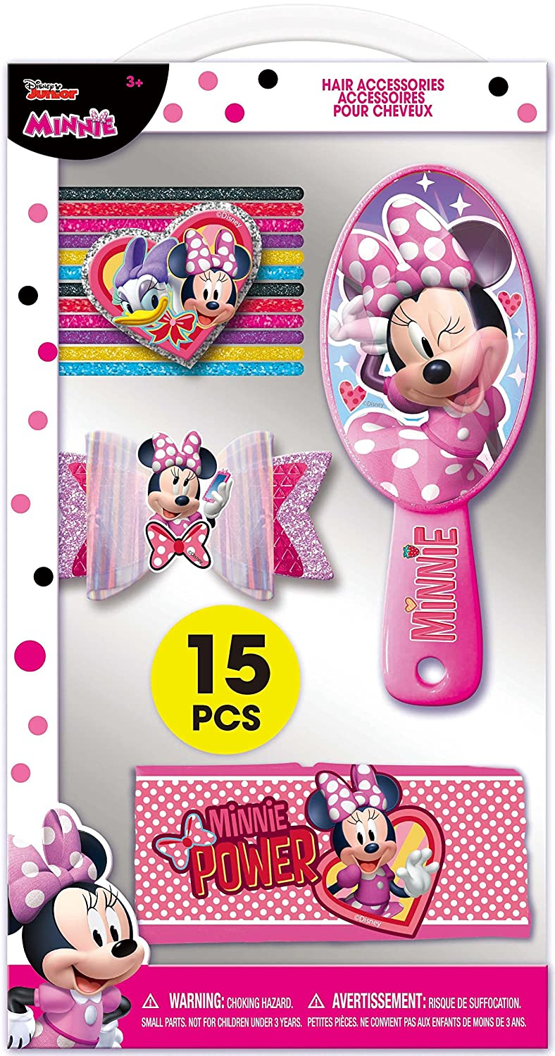 TownleyGirl MINNIE MOUSE Hair Set Includes a Bow 12 hair tie and a headband