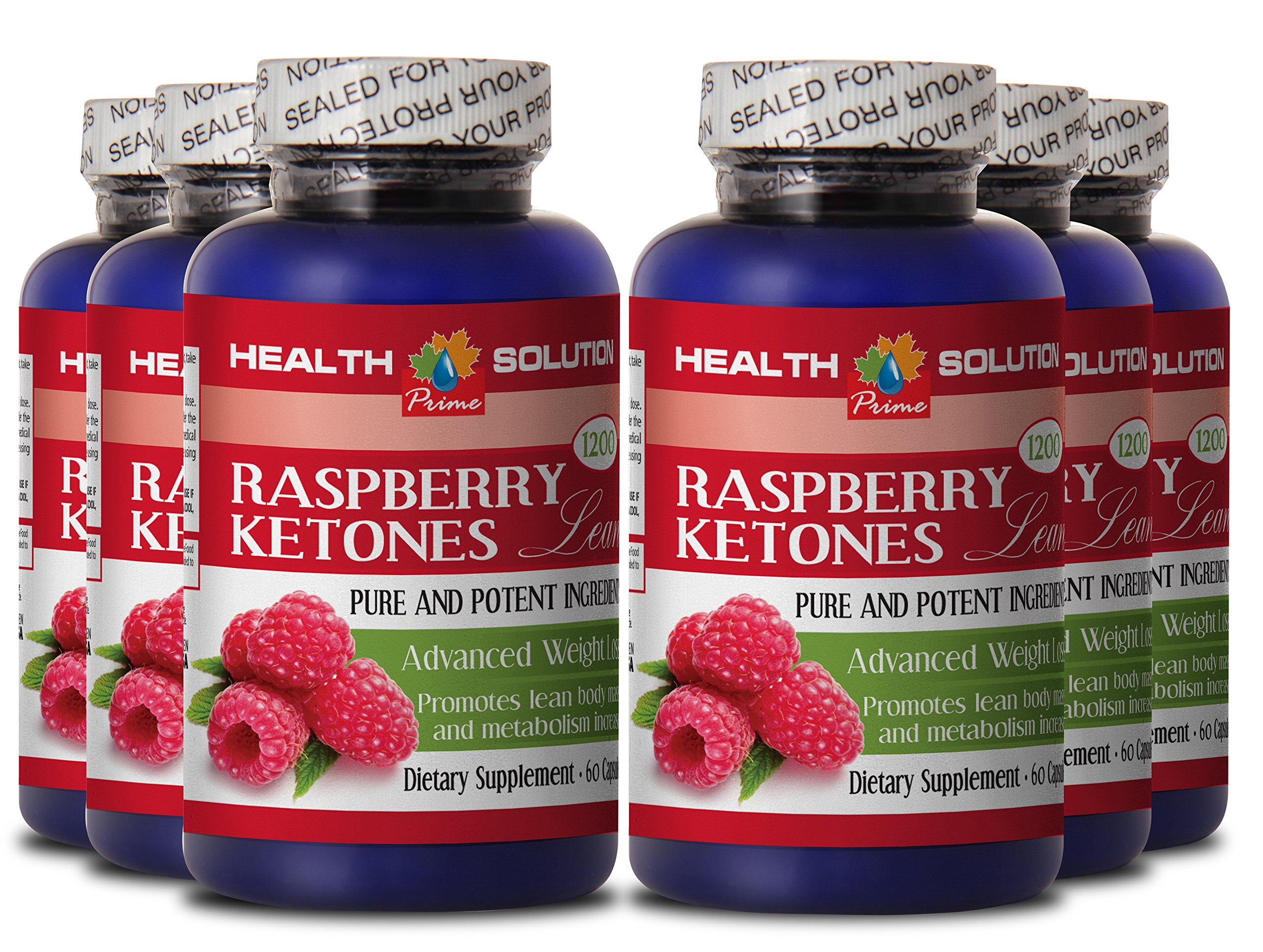 Raspberry ketones lose weight - RASPBERRY KETONES LEAN 1200MG - support digestion (6 Bottles)