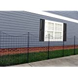"Zippity Outdoor Products WF29002 Garden Metal Fence 42"" 1 Box (5 Panels & 6 Stakes)"