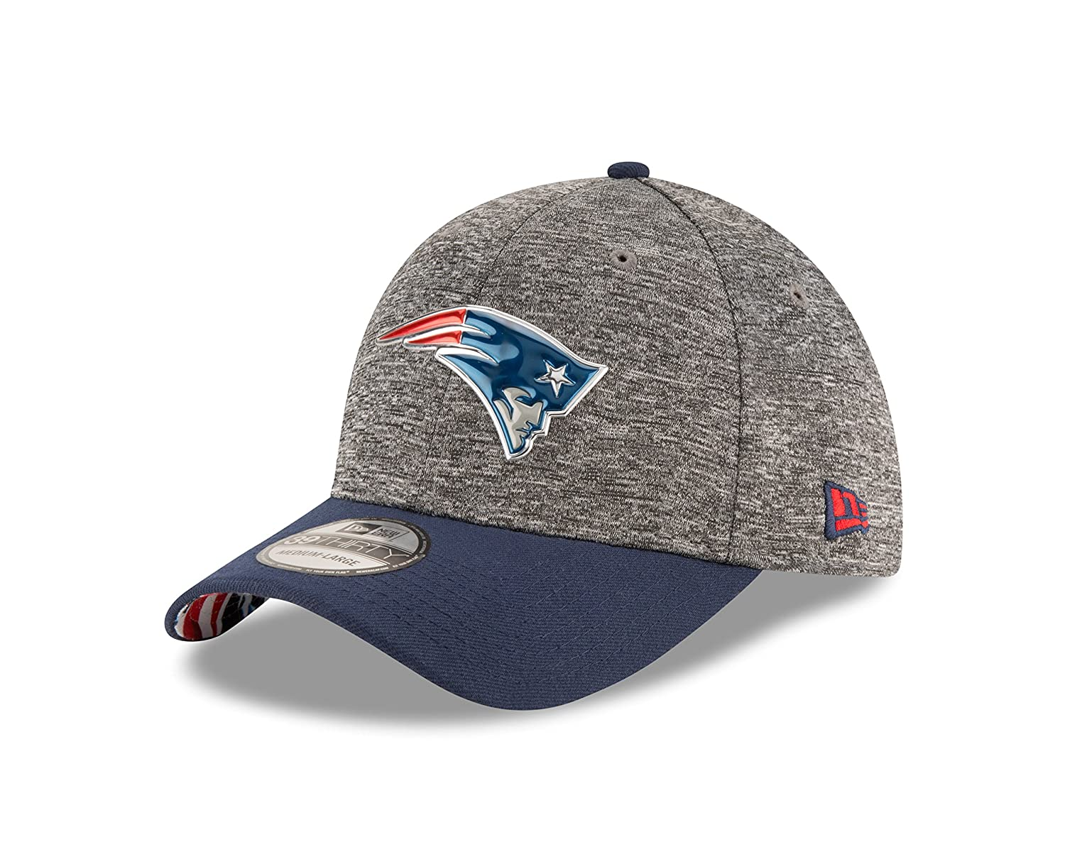 bd421239ace7fc Amazon.com : NFL New England Patriots 2016 Draft 39Thirty Stretch Fit Cap,  Large/X-Large, Heather Gray : Sports & Outdoors