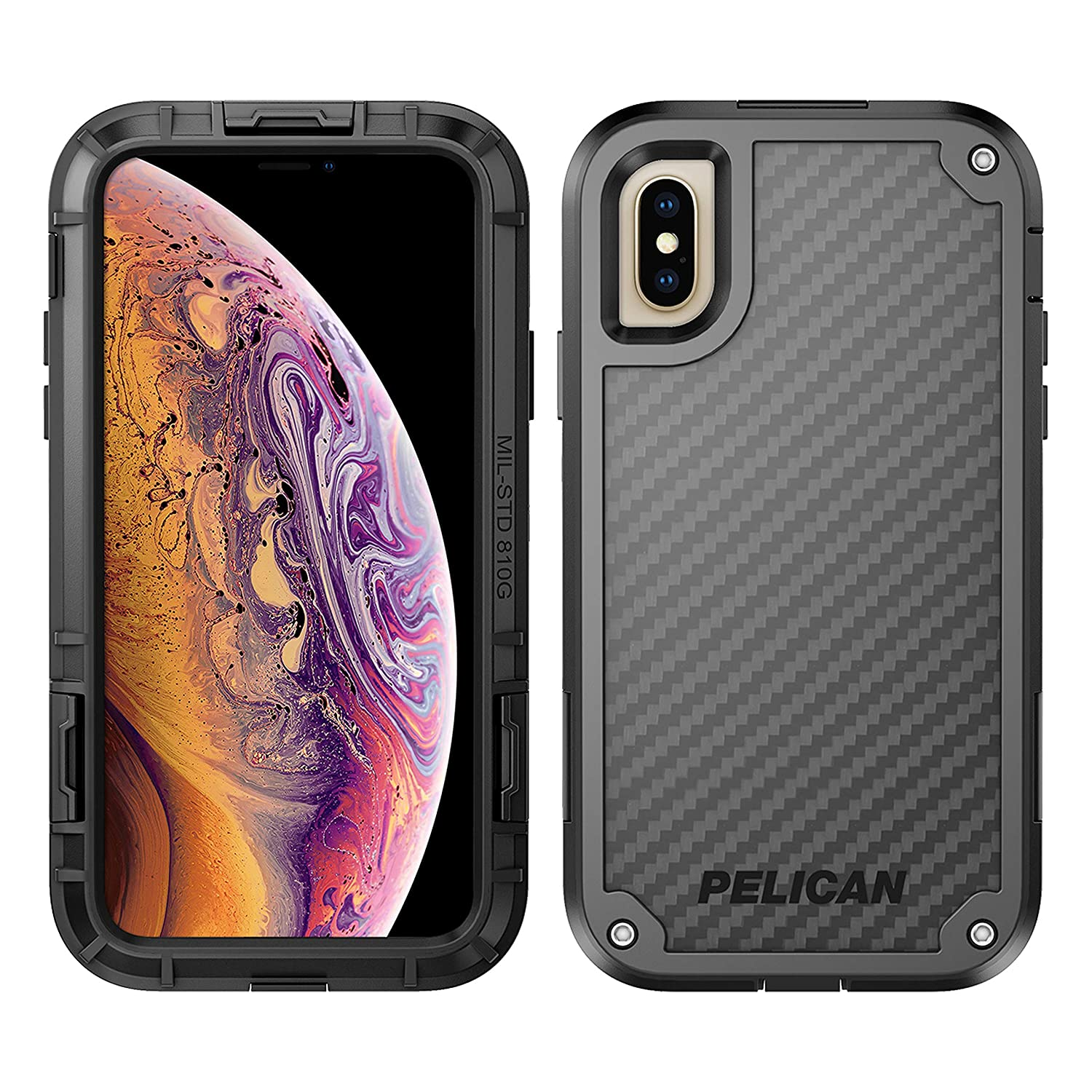 hot sale online eaae3 e0c41 iPhone X Case | Pelican Shield Case for iPhone X - Ultra slim design  constructed of Kevlar brand fibers for up to 24 feet drop protection