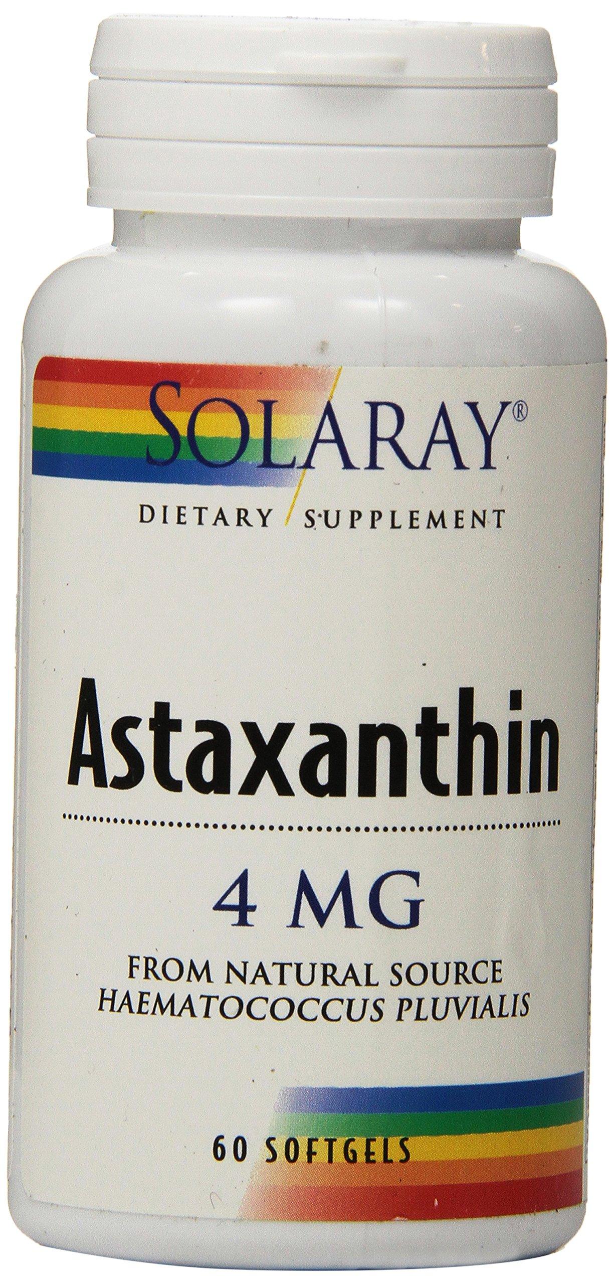 Solaray Astaxanthin 4 mg - 60 softgels