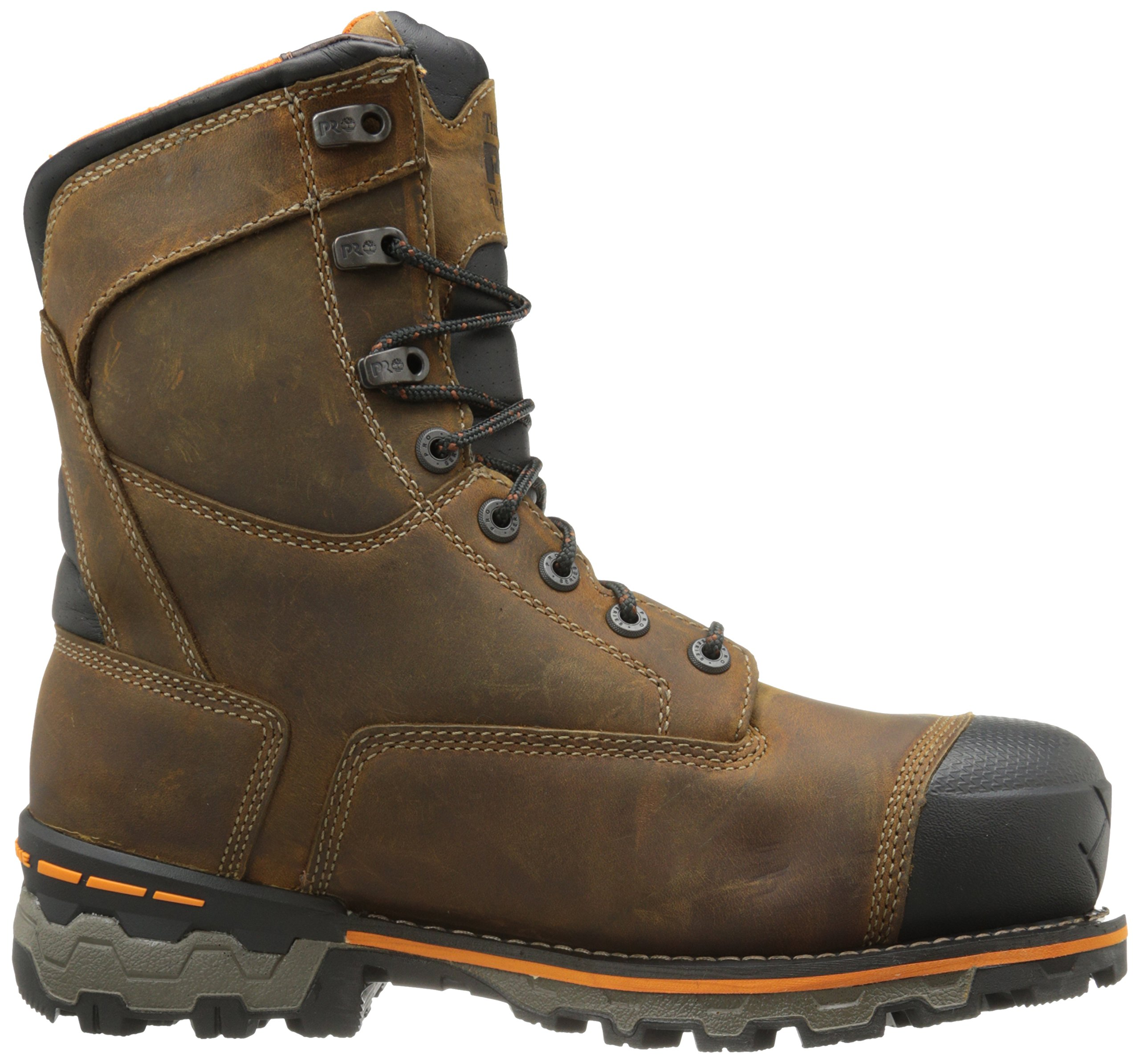 Timberland PRO Men's 8 Inch Boondock Composite Toe Waterproof Industrial Work Boot,Brown Oiled Distressed Leather,7.5 W US by Timberland PRO (Image #7)