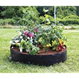 Povkeever Extra Large Fabric Raised Planting Bed, Round Raised Planter Grow Bag Garden Bed Bag for Herb Flower Vegetable Plants