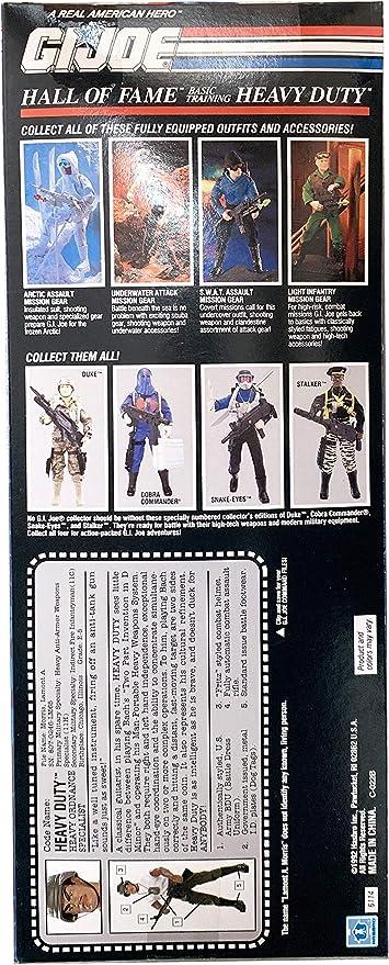 Joe Basic Training Heavy Duty 12 Action Figure Hall of Fame Hasbro 6114 1992 G.I A real American Hero