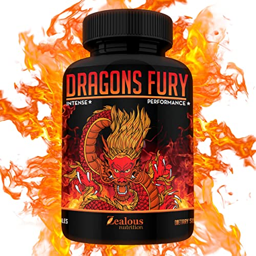 Dragons Fury Male Enhancing Booster 10X Strength Enlargement Booster for Size, Stamina, Energy, Drive Fast Acting Natural Performance Supplement Max Dose for 1 Month Supply Made in USA