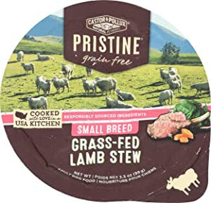 Castor & Pollux Pristine Grass-Fed Lamb Stew Small Breed Dog Food, 3.5 OZ