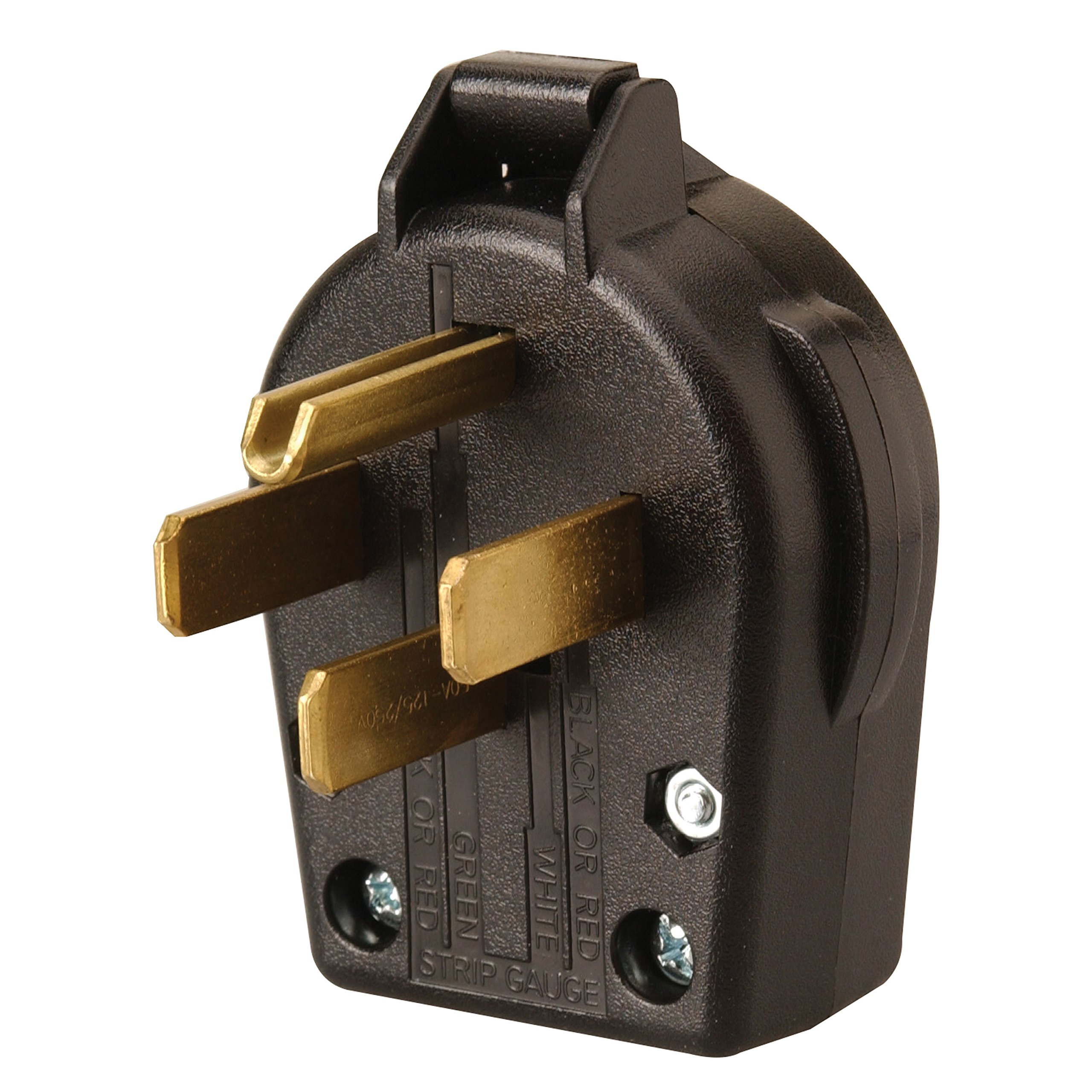 Coleman Cable 095433308 50-Amp Replacement Male RV Plug End, Black