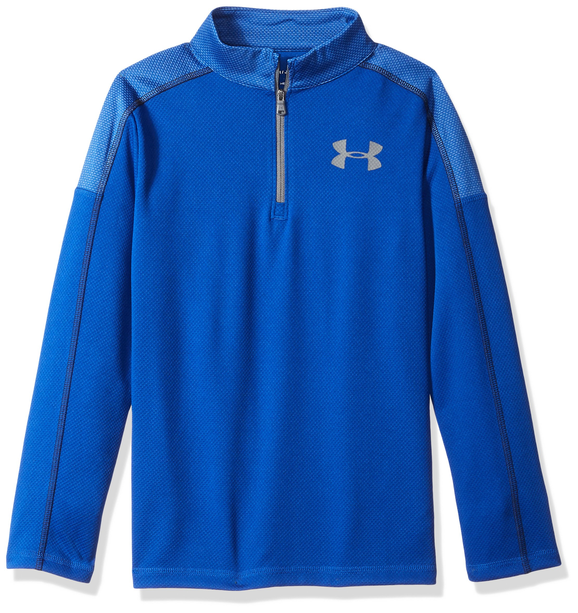 Under Armour Boys Tech 1/2 Zip, Royal (400)/Graphite, Youth X-Large by Under Armour