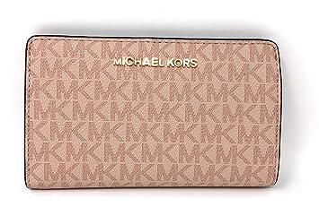 Michael Kors Jet Set Travel MK Signature Slim Bifold Wallet