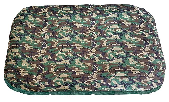 alfombrilla, colchón Caseta para perros Militar Verde, un solo panel: Amazon.es: Hogar