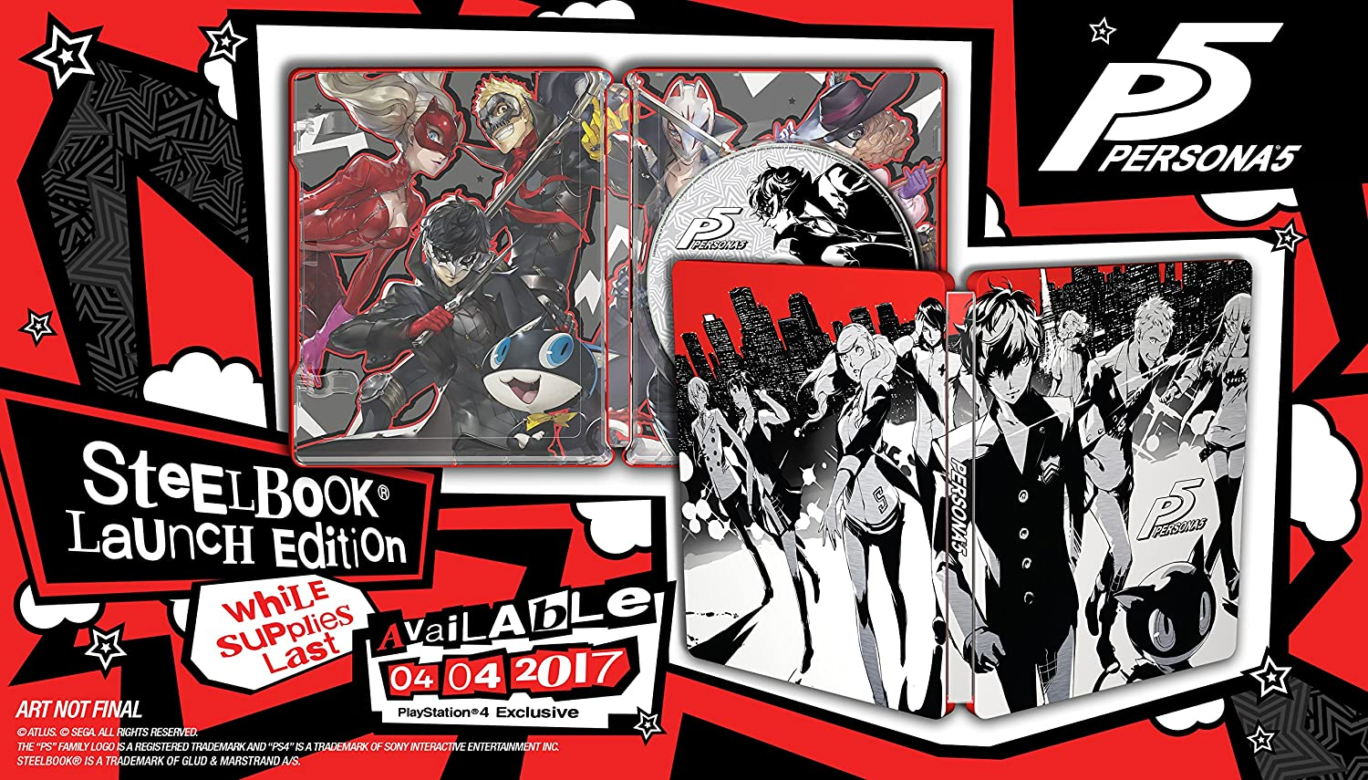 Persona 5 Ps4 Playstation Steelbook Launch Edition Case Only Video Games & Consoles No Game Disc