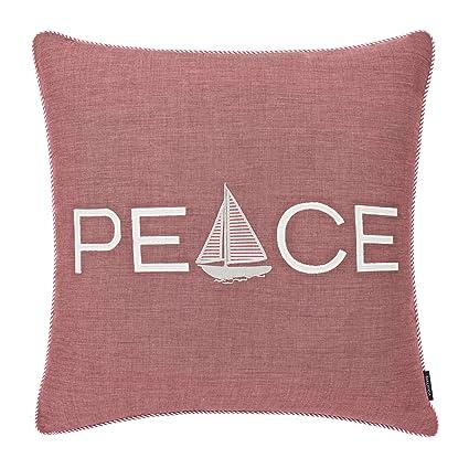 Amazon com: Nautica Peaceful Sailing Throw Pillow, 20x20