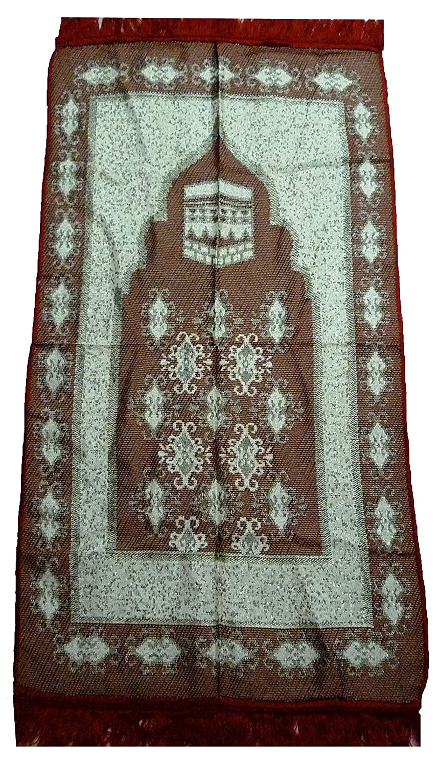 Turkish Prayer Mat QUB001 Islamic Thin Sajadah Muslim Salat Carpet Musallah Janamaz House Decor Eid Ramadan Gift (Turqoise) Quba