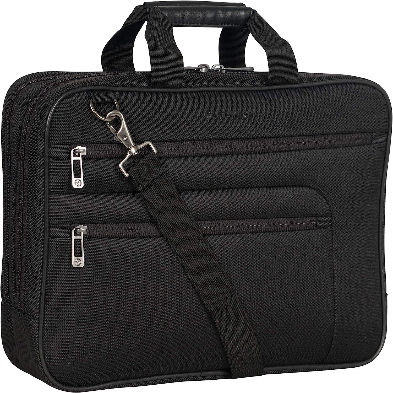 Black 17 Case Heritage Travelware Lightweight Durable Polyester 17.0 Laptop Business Case /& Tablet Bag Portoflio