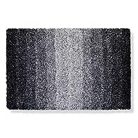 Tapis de bain casa pura Ombre noir-blanc | ultra doux et souple | 5 tailles au choix | poil long - lavable