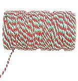 30M Mehrfarbige Schnur - Weihnachtszwirn - Geschenkverpackung - Weihnachtsdekoration