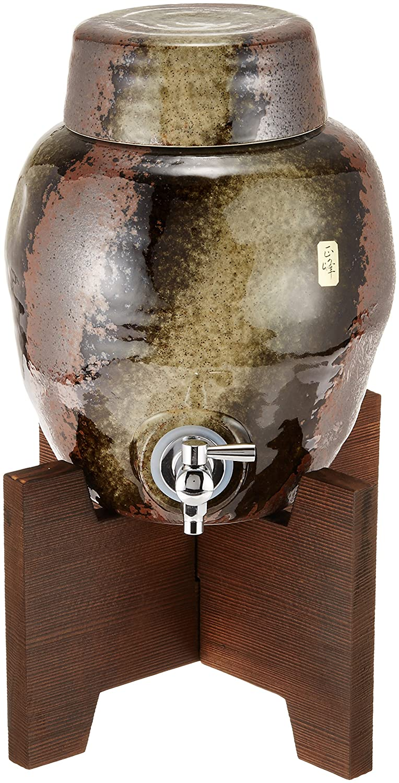 黒伊賀 ラジウム 焼酎 梅酒 サーバー 1升 木台付き 美濃焼   B0081D6DY0