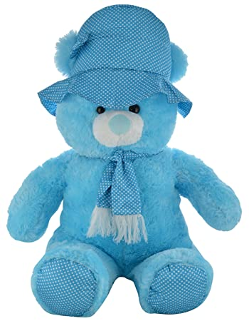 Buy Chunmun Teddy Bear With Cap Sky Blue Online At Low