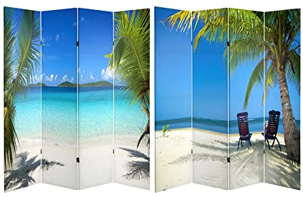 Amazoncom ORIENTAL FURNITURE 6 ft Tall Double Sided Ocean Room