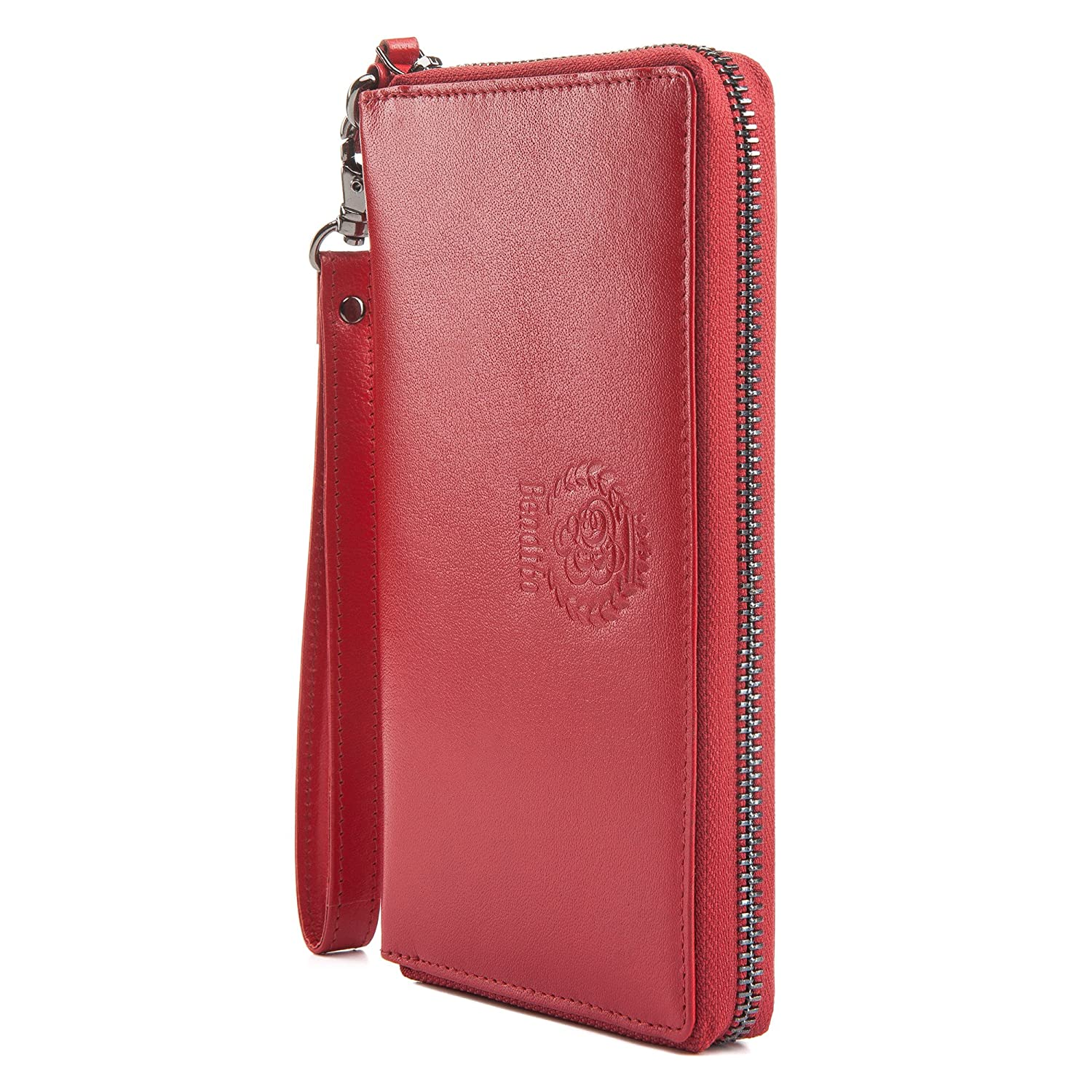 OPTEXX/® RFID Blocking Ladies Wallet Bendito Julia Red with OPTEXX/® Protection; Made in Germany