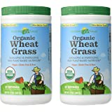 Amazing Grass Organic Wheat Grass Powder, 60 Servings, 17-ounce Container (17 oz X 2)