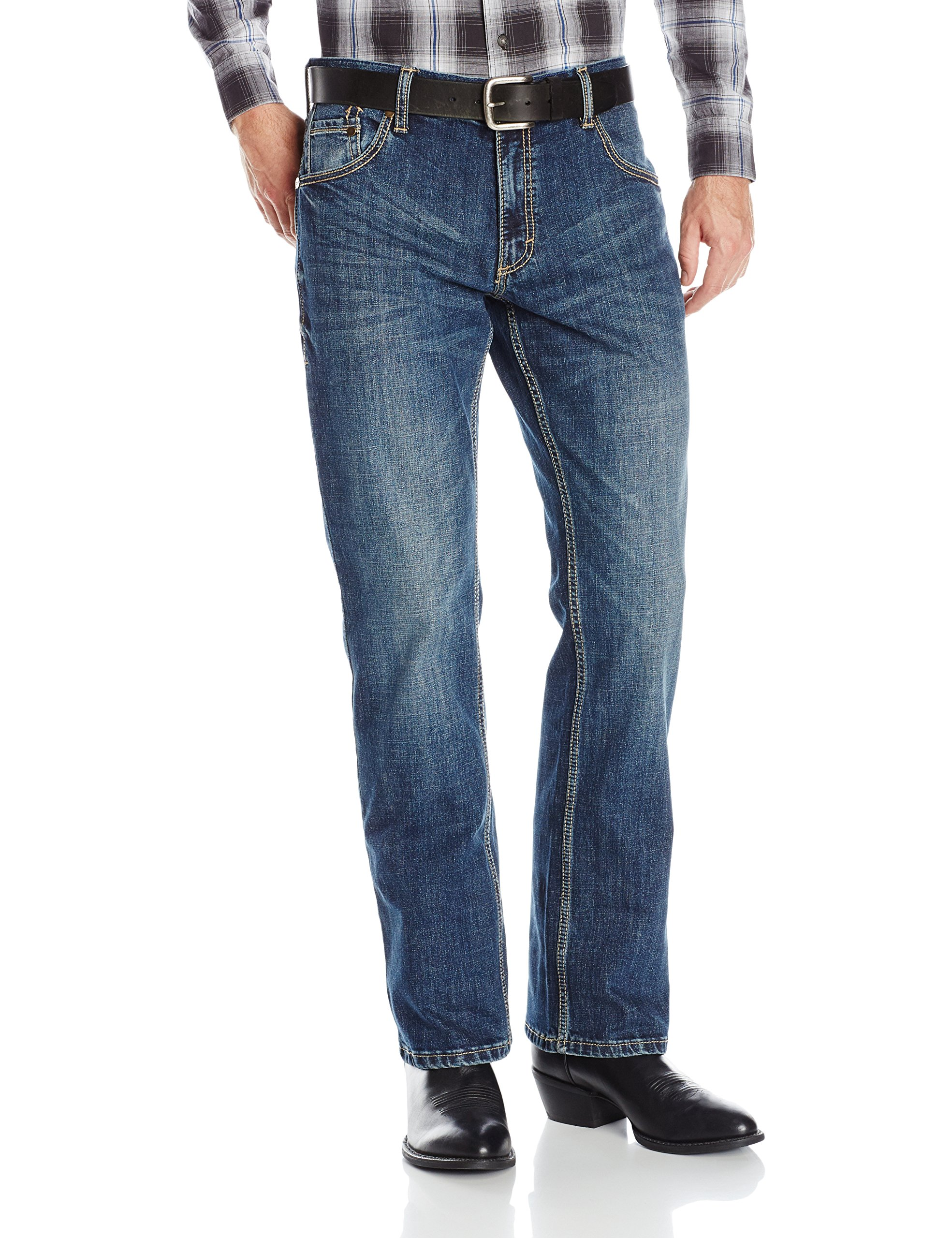 Wrangler Men's Retro Slim Fit Boot Cut Jean, Layton, 40x32