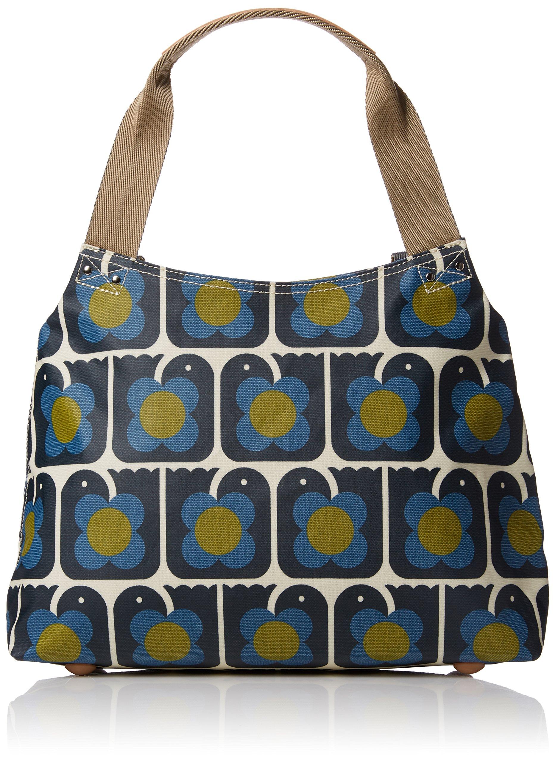 Orla Kiely Love Birds Print Classic Zip Shoulder Bag, Navy