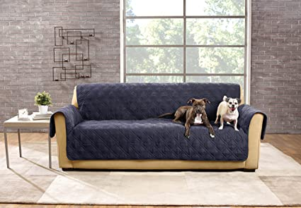 Merveilleux Sure Fit SF44832 Deluxe Non Skid Waterproof Pet Sofa Furniture Cover    Storm Blue
